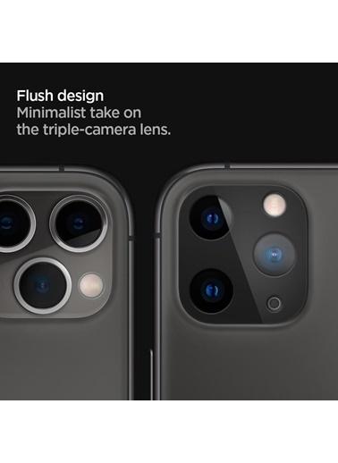 Spigen iPhone 11 Pro Max / 11 Pro Kamera Lens Cam Ekran Koruyucu, Full Cover (2 Adet) Siyah